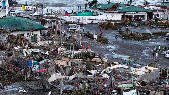 A view of the typhoon-ravaged city of Tacloban, Philippines, on Nov. 9.