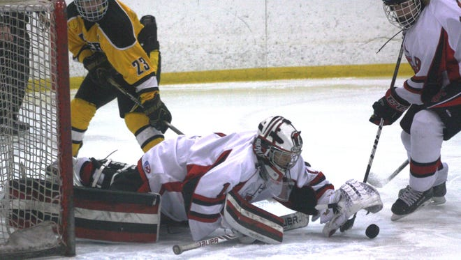 Churchill goalie Andrew Broyles made 20 saves during Friday's victory over Grosse Ile.