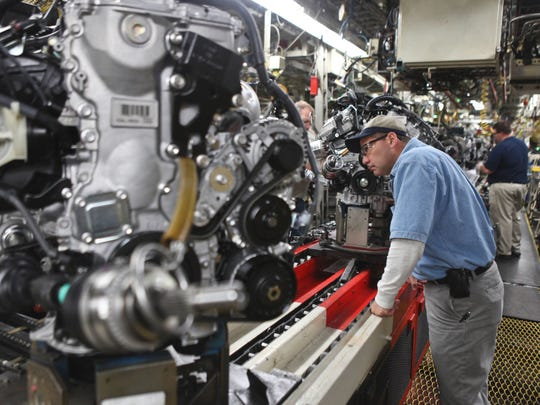 Tony Hendrichs supervises the engine assembly line at the Toyota Georgetown plant. The plant celebrated its 25th anniversary in 2011. Tony Hendrichs supervises the engine assembly line at the Toyota Georgetown plant. The plant celebrated its 25th anniversary in 2011.