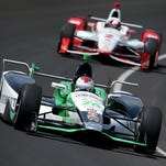 Carlos Munoz, shown here at Indianapolis Motor Speedway, is one of two race winners this season. He won at Detroit.