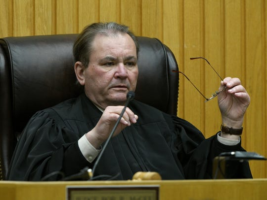 Knox County Criminal Court Judge Bob McGee during the