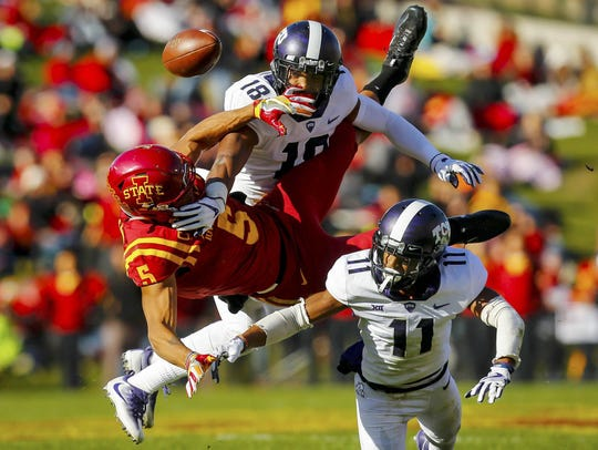 Iowa State Cyclones wide receiver Allen Lazard (5)