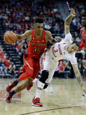 Arizona's Allonzo Trier drives against UNLV during the Wildcats' overtime win over the Rebels last Saturday.