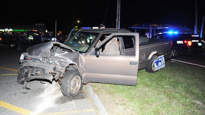 Motor vehicle accident East Ashland  and Cary streets in Brockton on Thursday, July  16, 2020.