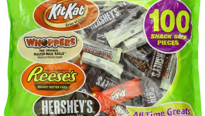 Reese's Peanut Butter Cups ranks No. 1 for favorite Halloween candy.