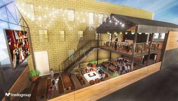 A view of the back of the redeveloped bar planned for