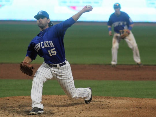 CovCath senior Jack Maile pitches to Highlands during
