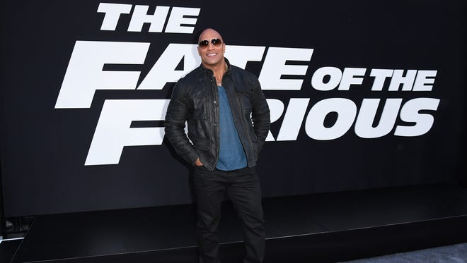 """At the New York premiere of """"The Fate of the Furious"""" on April 8, 2017, Dwayne Johnson walked the carpet alone at the beginning of the premiere while costar Vin Diesel arrived later."""