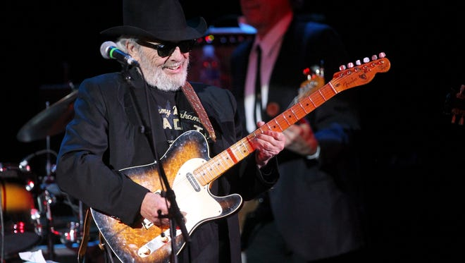 File photo - Country music legend and Palo Cedro resident Merle Haggard plays Jan 10, 2013, for a hometown show at the Cascade Theatre in Redding.