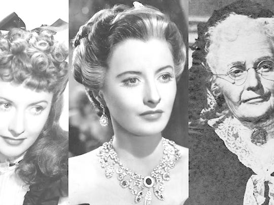 """Charles Gemora's aging of Barbara Stanwyck in """"The"""