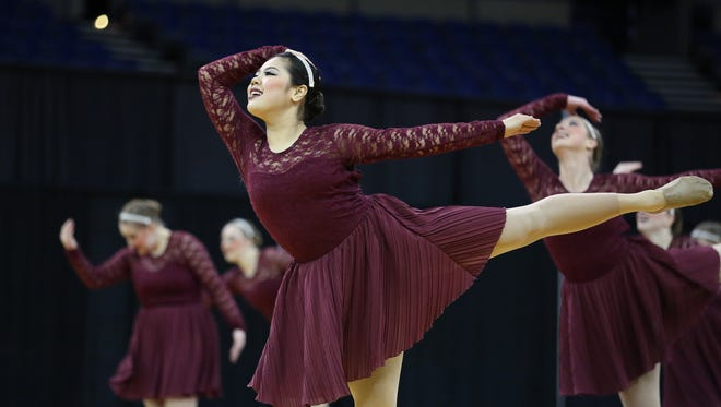 Silverton competes during the OSAA Dance and Drill State Championships on Saturday, March 19, 2016, at Veterans Memorial Coliseum in Portland, Ore.