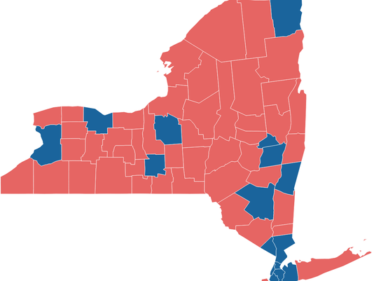 New York 2016 Presidential Election Map