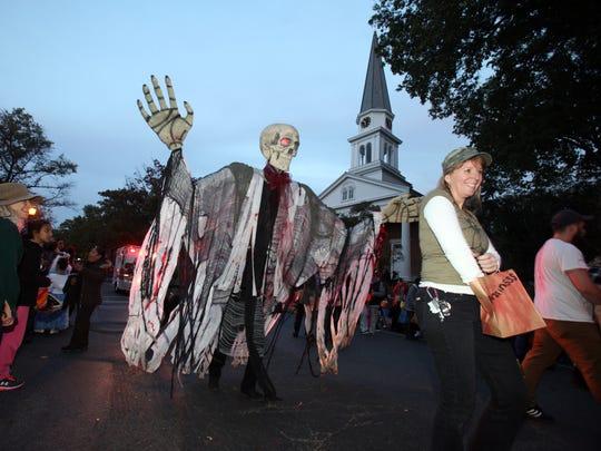 The Tarrytown Volunteer Ambulance Corps walking skeleton