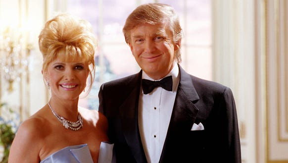 In this 1995 file photo, Donald and Ivana Trump were