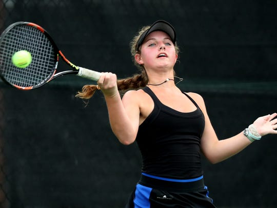 Brentwood senior Georgia Fischer was named the Tennessean's 2019 Girls Tennis Player of the Year.