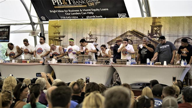 The first World Slopper-Eating Championship drew a capacity crowd to the PB&T Bank Pavilion on the Colorado State Fairgrounds. This year's contest will be available for virtual viewing.