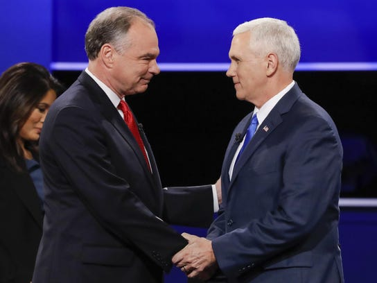 Republican vice-presidential nominee Gov. Mike Pence,