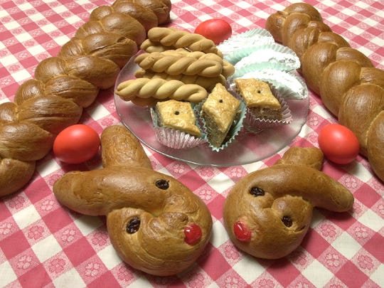 The Ladies of St. Nicholas Greek Orthodox Church Delphi Club will host its 2017 Easter Bake Sale from 7:30 a.m. to noon on Friday, April 7 at St. Nicholas Greek Orthodox Church Hall, 502 S. Chaparral St. Bunny breads, braided Easter loaves, koulouria, baklava, dolmades and more.