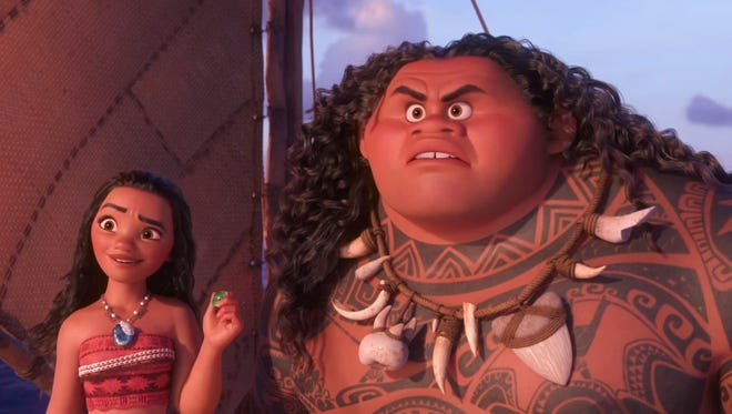"An adventurous teenager who sails out on a daring mission to save her people in the Disney film ""Moana."""