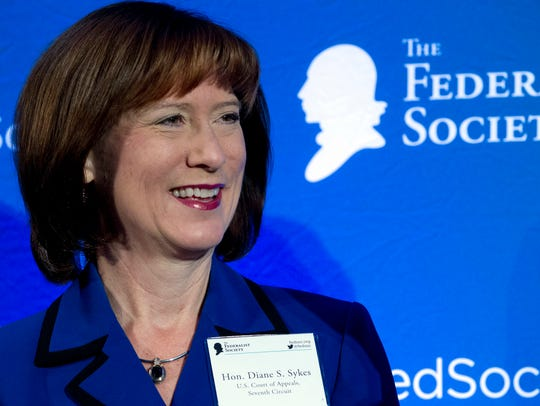 U.S. Court of Appeals Judge Diane Sykes speaks to the