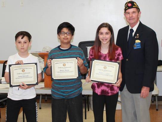 From left: Samuel Gonzalez, Amaar Halani, Angelina