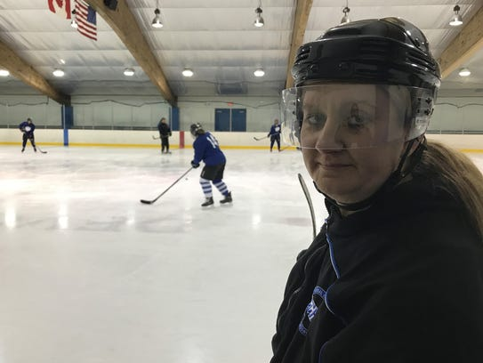 Livonia United girls hockey coach Janine Martinez presided
