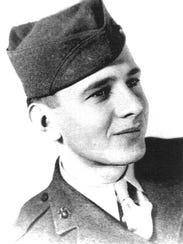 Edgar Harrell as a 20-year-old member of the U.S. Marine