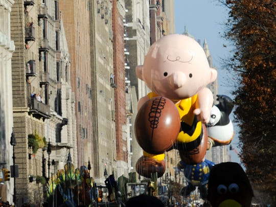 Charlie Brown is in the Macy's Thanksgiving Day Parade