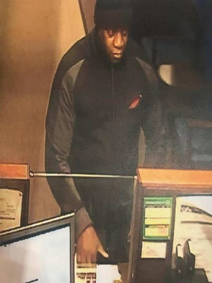 Police are looking for this man in connection with a Nov. 1 bank robbery in Franklin.