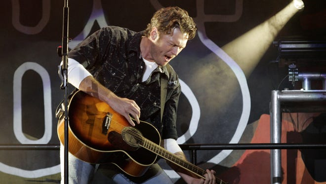 2008: Blake Shelton at the Iowa State Fair Grandstand.