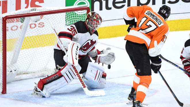 Cory Schneider and the Devils beat the Flyers 4-1 in their trip to Philly in October.