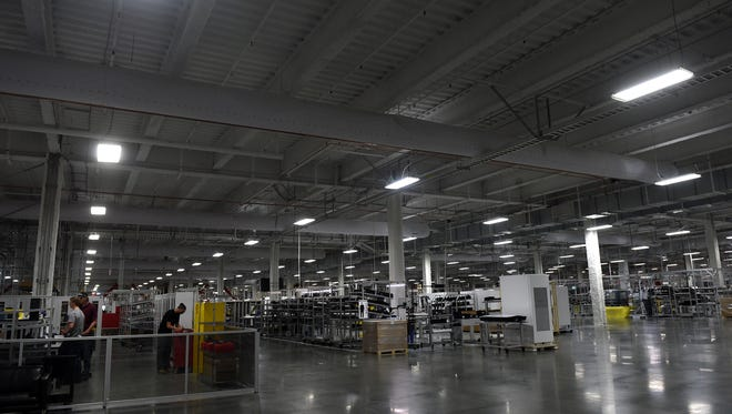 Two Nevada lawmakers want to create a tax break to encourage more development of lithium mining and processing in the state. Lithium is used in batteries for everything from mobile phones to electric cars. Interior of Tesla Gigafactory in Storey County as seen March 18, 2016. The factory will produce lithium-ion batteries.