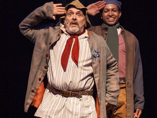 Jon Huffman and James Stringer Jr. in Kentucky Shakespeare's