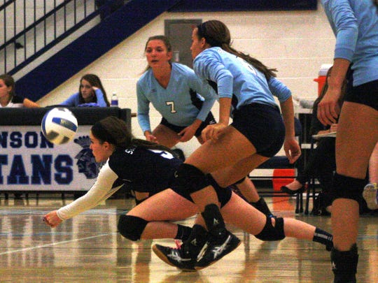Livonia Stevenson senior Allie Strautz played well in Tuesday's loss to Northville.