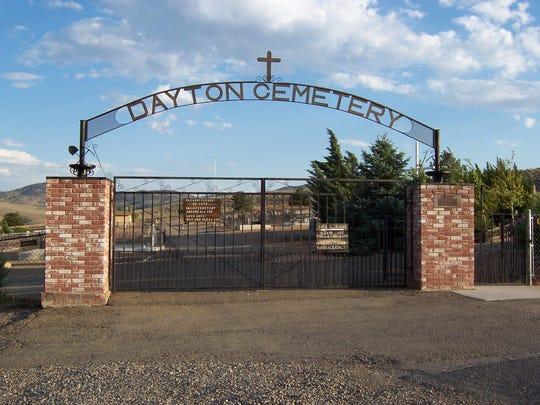 Entrance to the Dayton Cemetery, where Civil War veteran