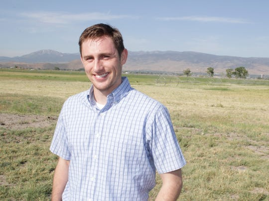 Kaleb Wartgow, Class of 2016, at the UNR Main Station Field Laboratory, plans to practice family medicine in rural Nevada.