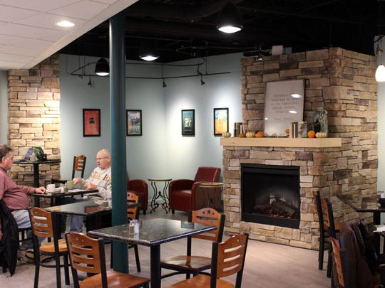 The decor of the new Christy's Cafe is updated from