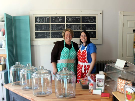 Jen Check and Christine Berhhardt, owners of Bright Side Sweets in Victor, purchased the gluten-free shop earlier this year when they heard it was closing.