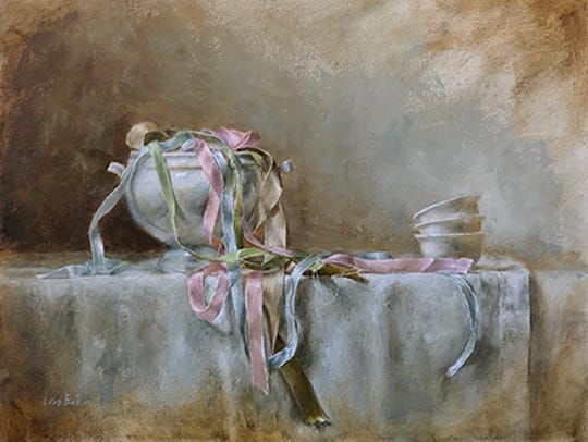 """""""Ribbons and Bowls"""" by Lois Eakin, part of Exhibit"""