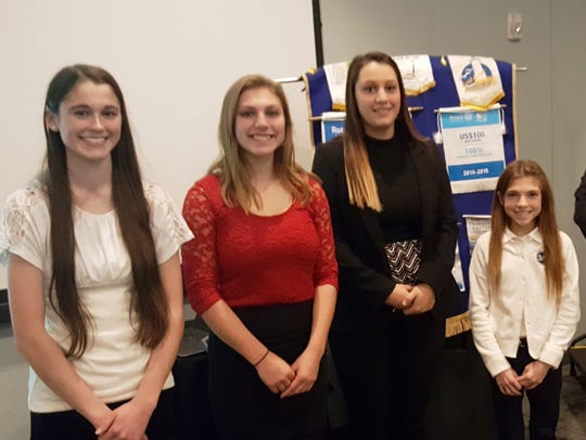 Area student guests visited the Rotary Club in October.