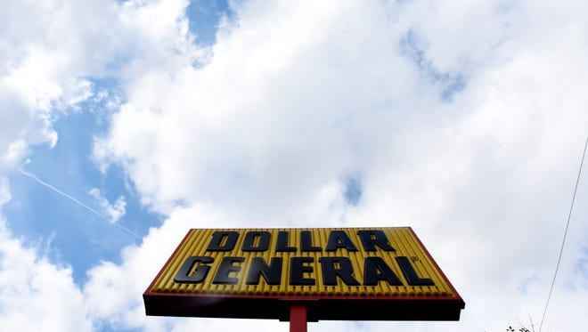 The Dollar General sign at a store in Bossier City.