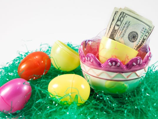 Easter Basket With Eggs And Money XL