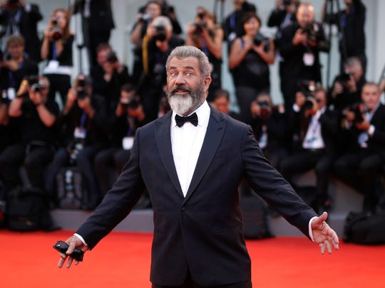 Director Mel Gibson attends the premiere of 'Hacksaw