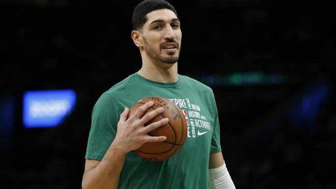 """Celtics center Enes Kanter tweeted a message Friday that urged fans to register to vote, offering a registration link and writing, """"From your local school board to the Senate, it's important to vote in every election. Thanks for taking the first step."""""""