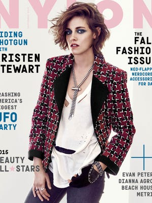 """Kristen Stewart on the cover of the fall fashion issue of """"Nylon."""""""