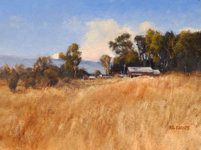 "CONTRIBUTED PHOTO Work by local artist Mel Rhoads, ""Horse Barn."""