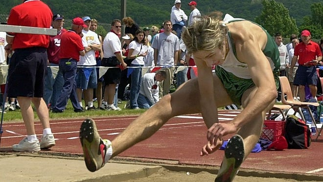 West Allis Hale's Rick Bellford competes in the Division 1 long jump at the WIAA state meet in 2001.