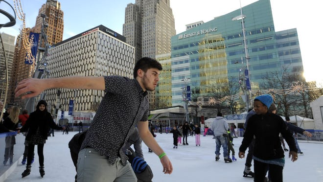 The ice rink at Campus Martius is closed temporarily due to the Michigan Department of Health and Human Services' order to limit large gatherings, even outdoors.