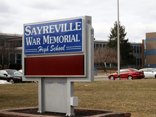 Students walked out of Sayreville High School on Wednesday despite the district's warnings that students who do so will be suspended.