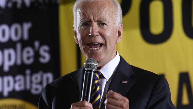 JOE BIDENAge: 76Best known for: Being former President Barack Obama's vice president from 2009 to 2017 and U.S. senator from Delaware from 1973 to 2009.Biggest strength: He's well-known nationally and popular in some places Democrats have lost recently, such as working-class swing states Wisconsin, Michigan and Pennsylvania, his birthplace.Biggest weakness: Biden would be the oldest person ever elected president, with a nearly five-decade record for opponents to comb through, at a time many in his party are clamoring for a new generation to take the reins. The notoriously chatty former senator also tends to commit verbal gaffes and faced recent accusations by some women of uninvited, though nonsexual, touching.FILE - In this June 17, 2019, file photo, Democratic presidential candidate, former Vice President Joe Biden, speaks in Washington. A new poll from The Associated Press-NORC Center for Public Affairs finds majorities of Democratic voters saying gender, race and age make no difference in their enthusiasm about a candidate. Instead, Democratic voters are overwhelmingly looking for experience in elected office. Twenty-five candidates are running for the partyþÄôs nomination and include several women, a Latino, multiple candidates of African and Asian descent, and a 37-year-old gay man less than half the age of the 76-year-old early front-runner, Biden.